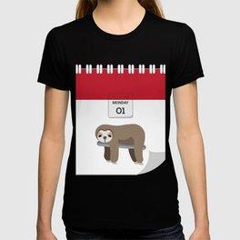 Lazy Koala Calendar Day T-shirt