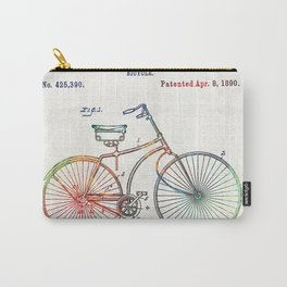 Colorful Bike Art - Vintage Patent - By Sharon Cummings Carry-All Pouch