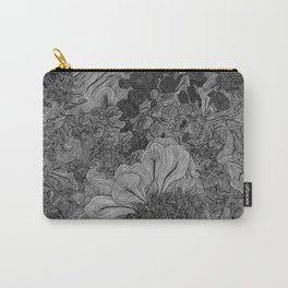 Floral Lines 4 Carry-All Pouch