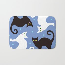 Cats Blue Bath Mat
