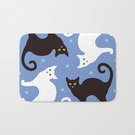 Cats Blue Bath Mat