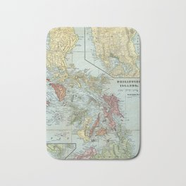 Vintage Map of The Philippines (1898) Bath Mat