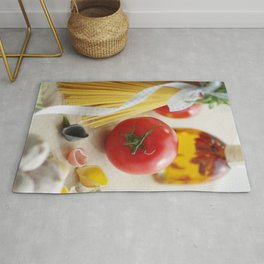 #Fresh #Tomato with #Pasta  in the #kitchen Rug
