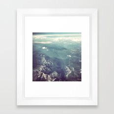Aerial View of the French Alps Framed Art Print
