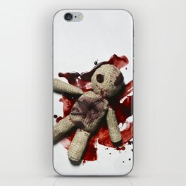 Bloody sack doll iPhone Skin