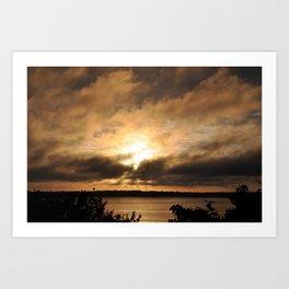 Misty Sunset on the PI Basin Art Print