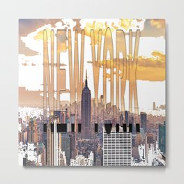 New York City Scape Metal Print