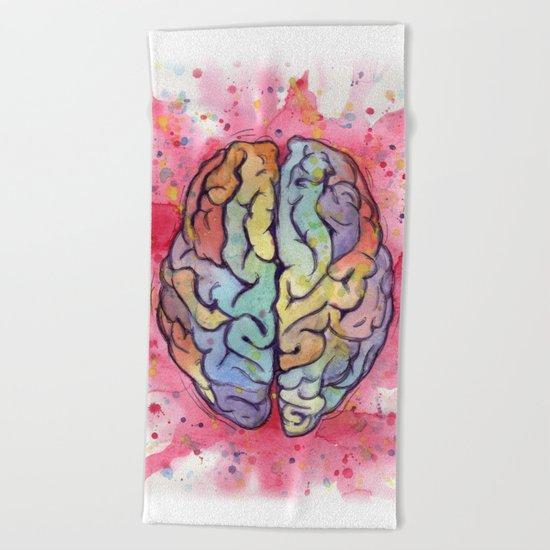 brain stuff Beach Towel