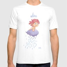 Léna (drawn by Karim Friha) Mens Fitted Tee White MEDIUM
