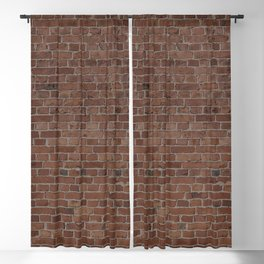 NYC Big Apple Manhattan City Brown Stone Brick Wall Blackout Curtain
