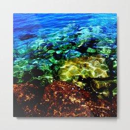 Greek Sea Water Edit Metal Print