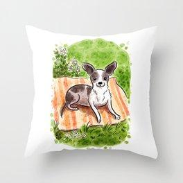 B&W Chihuahua Throw Pillow