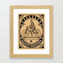 The Ciclista Safety Matches Framed Art Print