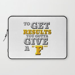 GIVE A F Laptop Sleeve