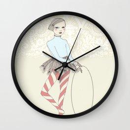 Harlequin Girl Wall Clock