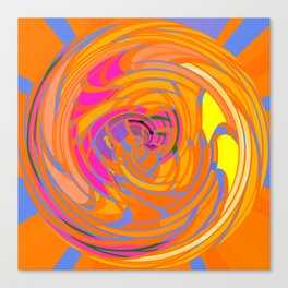 Wind Tunnel in Orange Canvas Print