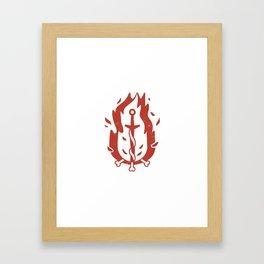Bonfire (Demon's Souls & Dark Souls) Framed Art Print