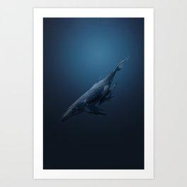 Whales family Art Print