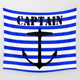 Captain and anchor logo Wall Tapestry