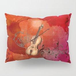Music, violin with violin bow Pillow Sham