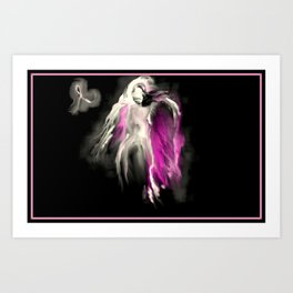 Breast Cancer Guardian Angel Art Print