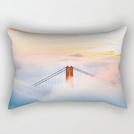 Golden Gate Bridge at Sunrise from Hawk Hill - San Francisco, California Rectangular Pillow