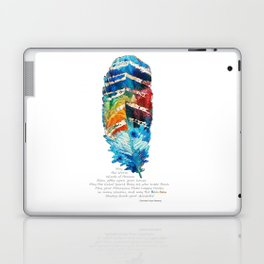 Colorful Feather Art -  Blessing - By Sharon Cummings Laptop & iPad Skin