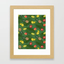 Tropical fruits pattern Framed Art Print