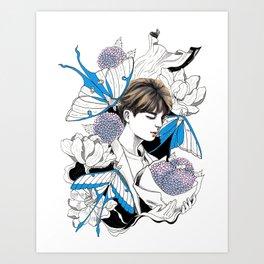 BTS Jin Art Print