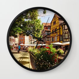 Colmar is a colorful poetry  Wall Clock