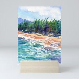 Kauai North Shore Beach 2 Mini Art Print