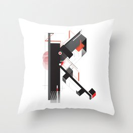 Abstract K Throw Pillow