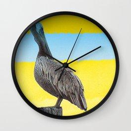 Pelican Summer Wall Clock