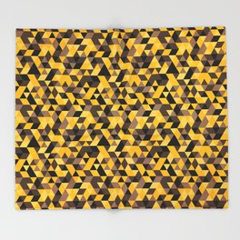 Hufflepuff pattern Throw Blanket