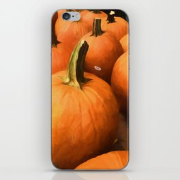 Pumpkins on Cart iPhone Skin