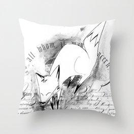 minima - deco fox Throw Pillow