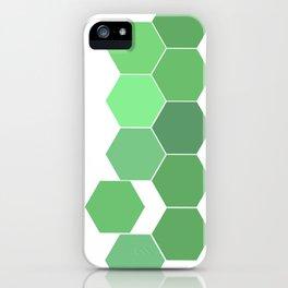 """Hexagon """"die grünen Waben"""" iPhone Case"""