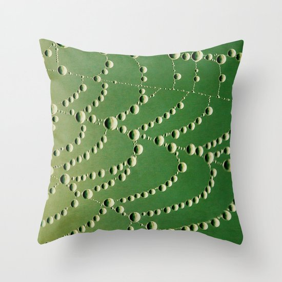string of beads Throw Pillow
