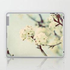 white blooms Laptop & iPad Skin