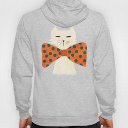 Cat with incredebly oversized humongous bowtie Hoody