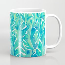 Split Leaf Philodendron – Turquoise Coffee Mug
