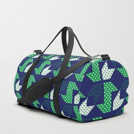 Clover&Nessie Denim/Spinach Duffle Bag