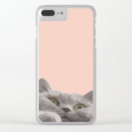 Meowing Clear iPhone Case