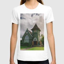 Wai'oli Hui'ia Church Hanalei Kauai Hawaii Printable Wall Art | Tropical Island Architecture Photography Print T-shirt