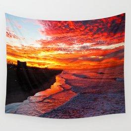Sunrise Huntington Beach Pier   12/17/13 Wall Tapestry