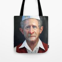 fries Tote Bags featuring Freedom Fries by Jaime Margary