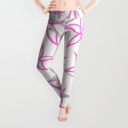 graffiti flowers : pink Leggings