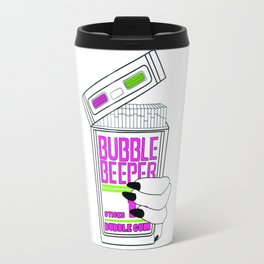 90s Bubble Beeper Chewing Gum with Gothic Nails Travel Mug