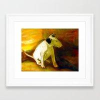puppy Framed Art Prints featuring Puppy by Michal Zbinkowski