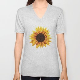 Polygonal Sunflower Unisex V-Neck